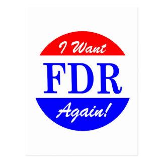 FDR - Le plus grand Président Tribute de Carte Postale