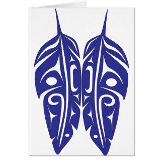 Feathers.png pourpre carte de vœux