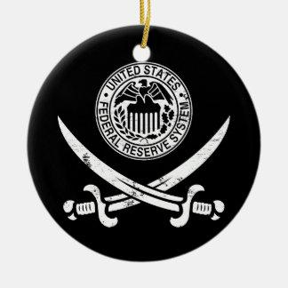 Federal Reserve piratent le logo Ornements De Noël
