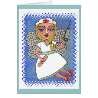 Fée blonde d'infirmière - carte de féerie de RN