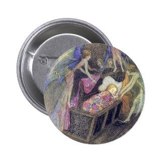 Fée chantant au bébé par le bouton de Warwick Gobl Badge