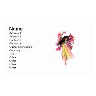 Fée de carnaval de fleur carte de visite standard