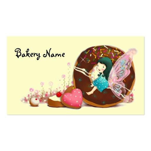 Fée de carte de visite de boulangerie