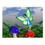 Fée de champignon cartes postales