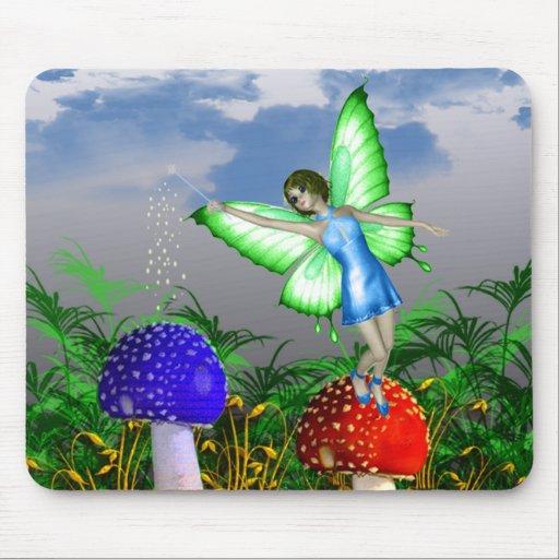 Fée de champignon tapis de souris