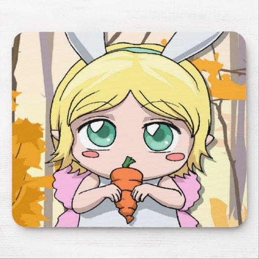 Fée de fille de lapin de Manga Tapis De Souris