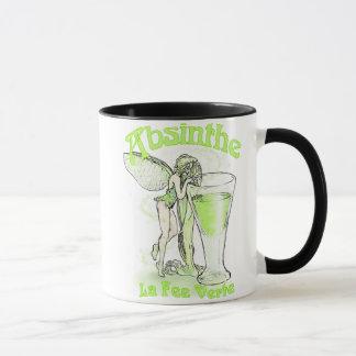 Fée de Verte d'honoraires de La d'absinthe avec le Mug