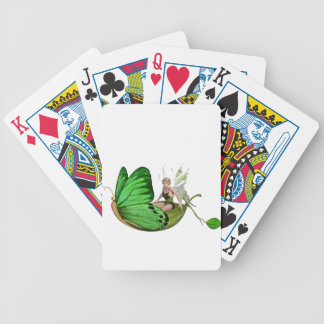 Fée d'Elven sur un bateau de feuille Jeux De Cartes