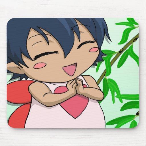 Fée d'enfant en bas âge de Manga avec un coeur Tapis De Souris