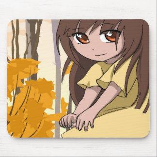 Fée jaune de Manga Tapis De Souris
