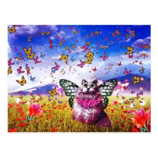 Fée KAT de papillon Carte Postale
