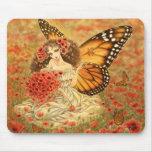 Fée Mousepad de papillon de monarque Tapis De Souris