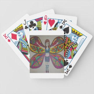 Fée tribale de papillon jeu de cartes
