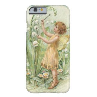 Fée vintage de ressort de fleur, cas de l'iPhone Coque iPhone 6 Barely There