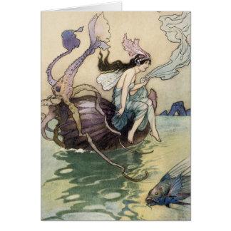 Fées sur la carte de bord de la mer par Warwick