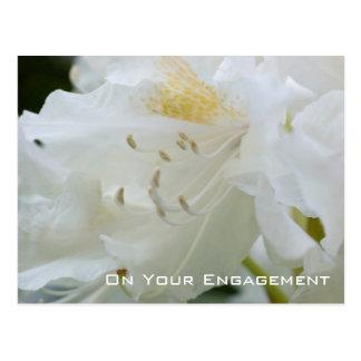 Félicitation blanche de fiançailles du carte postale