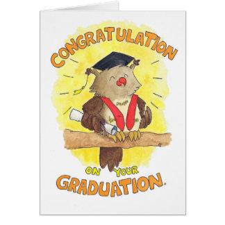 Félicitation sur votre carte de voeux d'obtention