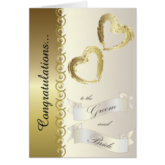Félicitations à la carte de mariage de marié et de