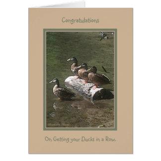 Félicitations : À l'obtention de vos canards dans Carte De Vœux