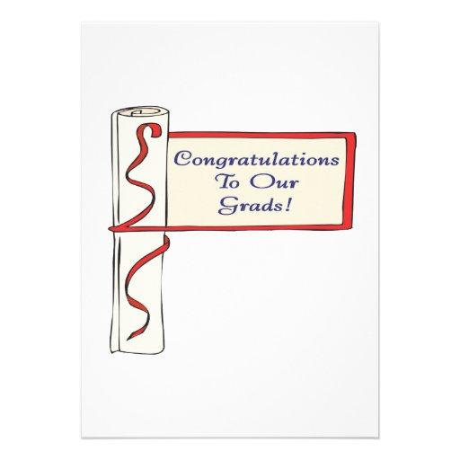 Félicitations à nos diplômés faire-parts