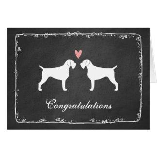 Félicitations à poils durs allemandes de mariage carte de vœux