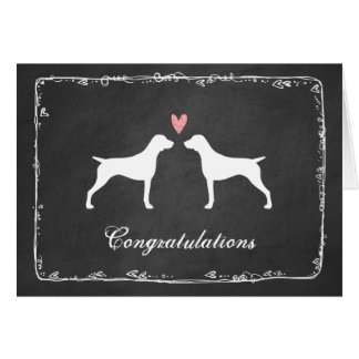 Félicitations allemandes de mariage d'indicateur carte de vœux