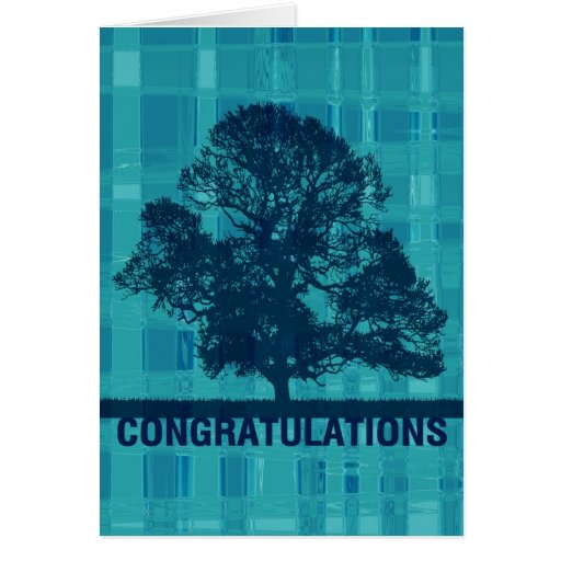 Félicitations aqueuses de plaid et d'arbre carte