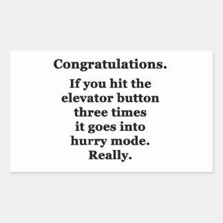 Félicitations Autocollant Rectangulaire