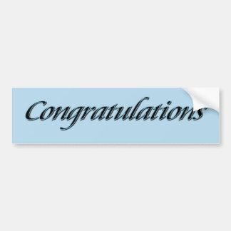 Félicitations Autocollant Pour Voiture
