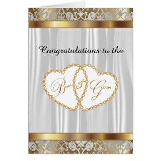Félicitations aux jeunes mariés - mariage carte de vœux