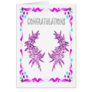 Félicitations brins de bruyère cartes de vœux