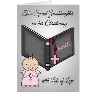 Félicitations, carte de petite-fille de baptême
