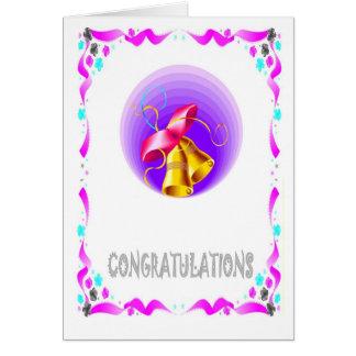 Félicitations, cloches carte de vœux