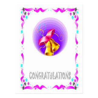 Félicitations - cloches cartes postales