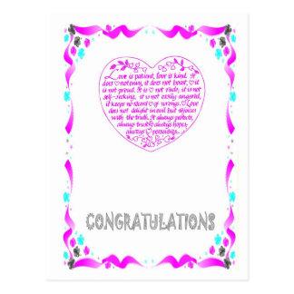 Félicitations - coeur cartes postales