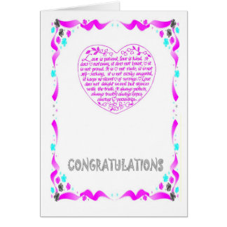 Félicitations coeur cartes de vœux