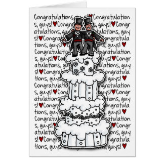 Félicitations - couples gais de mariage carte de vœux