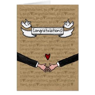 Félicitations - couples gais de mariage cartes