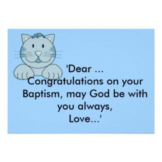 Félicitations de baptême baptême