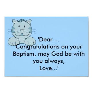 Félicitations de baptême/baptême carton d'invitation  12,7 cm x 17,78 cm