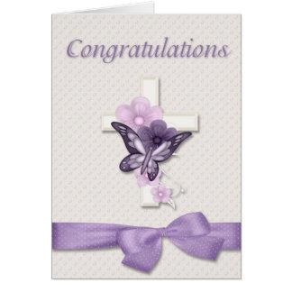 Félicitations de baptême cartes