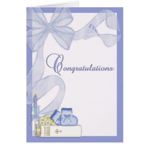 Félicitations de baptême de baptême cartes de vœux