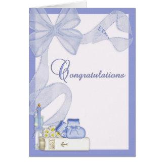 Félicitations de baptême de baptême cartes
