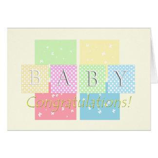 Félicitations de bébé ! carte de vœux