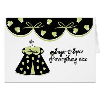 Félicitations de bébé de sucre et d'épice carte de vœux