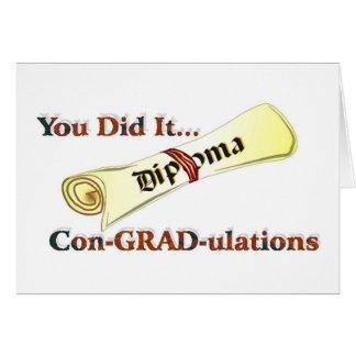 Félicitations de diplôme carte de vœux