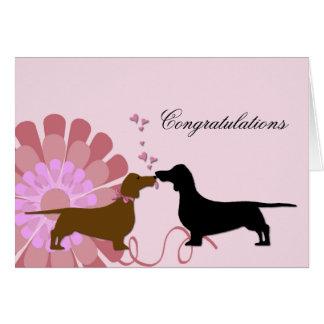 Félicitations de fiançailles de mariage de Doxie Carte De Vœux