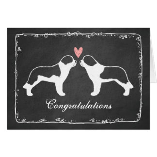 Félicitations de mariage de Bernards de saint Carte De Vœux