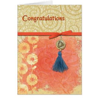 Félicitations de remous de dentelle carte de vœux