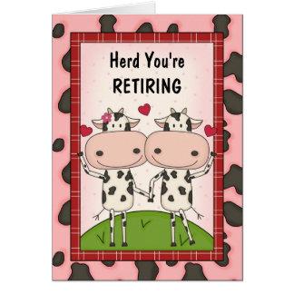 Félicitations de retraite - vaches cartes